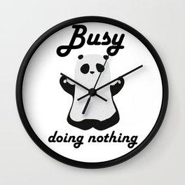 Busy panda is here Wall Clock