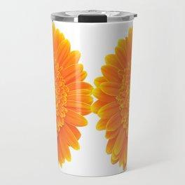 orange flower Travel Mug