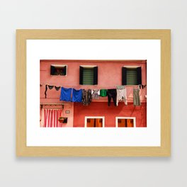 Burano Houses Framed Art Print