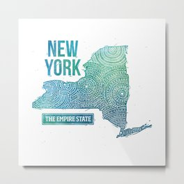 New York State Metal Print