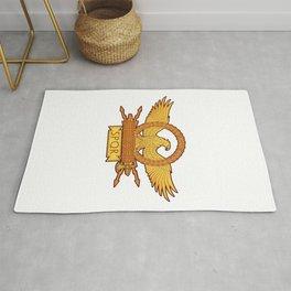 SPQR Roman Eagle Legion Standard Ancient Rome Rug