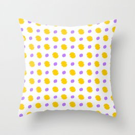 spot and blot 27 purple and orange Throw Pillow