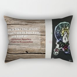 Rabbit in the Moon (Color) Rectangular Pillow