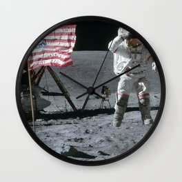 Apollo 16 Jumping On The Moon Wall Clock