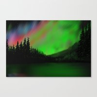 northern lights Canvas Prints featuring Northern Lights by Turul