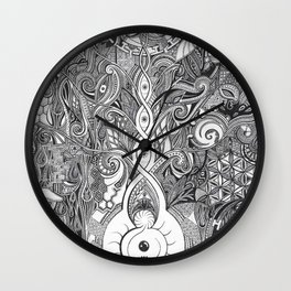 Psychedelic Meditation Wall Clock