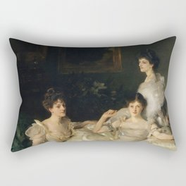 """John Singer Sargent """"The Wyndham Sisters: Lady Elcho, Mrs. Adeane, and Mrs. Tennant """" Rectangular Pillow"""