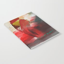 Red Ballet Slippers Notebook