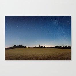 Mars Rising Over Buckworth Church Canvas Print