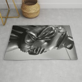 Dream Lover, Coming Home Sculpture by Bruno Bruni black and white photograph / art photography Rug