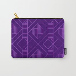 Metallic Foil in Purple Carry-All Pouch