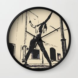 Pain is her Freedom - erotic nude, dark BDSM, bondage artwork, sexy slave girl tied Wall Clock