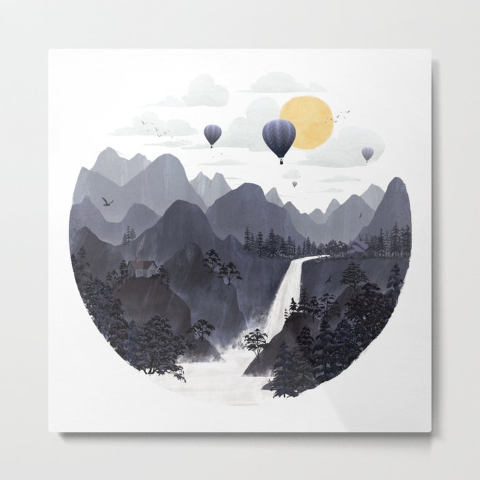 Roundscape II Metal Print