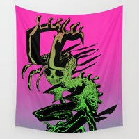 demon Wall Tapestries featuring DEMON by ASHES