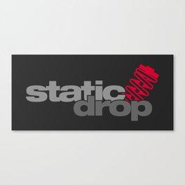 Static drop v1 HQvector Canvas Print