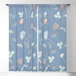 Beautfiul floral vector pattern with rustic flowers Blackout Curtain