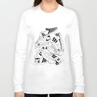 sneakers Long Sleeve T-shirts featuring Sneakers Illustration by Hello