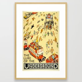 The Lure Of The Underground Framed Art Print