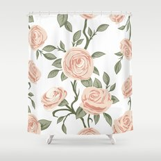 rose and roses Shower Curtain