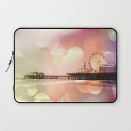 Sparkling pink Santa Monica Pier Laptop Sleeve