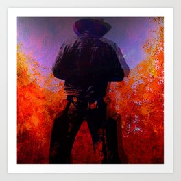 Cowboy 2 Art Print