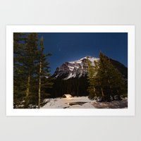 Starry night over Lake Louise, Banff Art Print