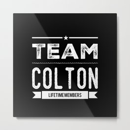 Personalized Name Colton - Birthday Gift Metal Print