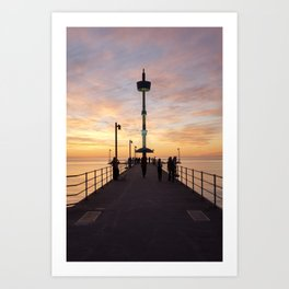 Brighton Jetty Sunset Art Print