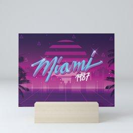 Vaporwave Miami 1987 Mini Art Print