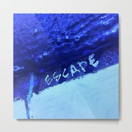 Escape NYC in Blue Metal Print