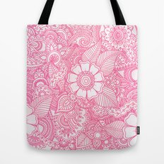 Henna Design - Pink Tote Bag