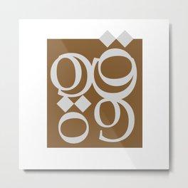 coffee - arabic letters - قهوة Metal Print