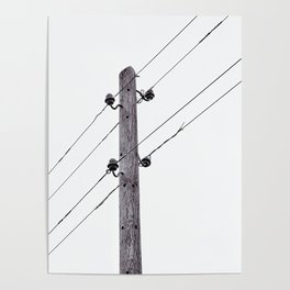 Old Utility pole Poster