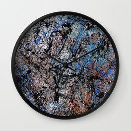 Number 1 Abstract Painting by Mark Compton Wall Clock