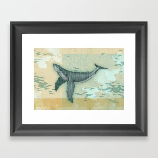 rhythm of the whale Framed Art Print
