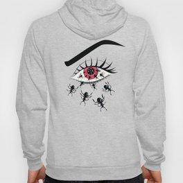Creepy Red Eye With Ants Hoody