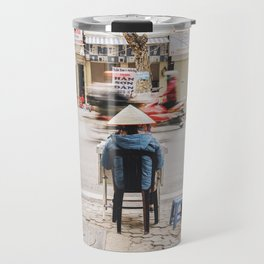 Street Seller in Hanoi, Vietnam Travel Mug