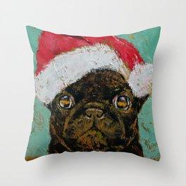Santa Pug Throw Pillow