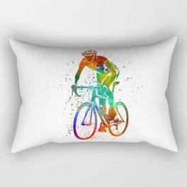 Woman triathlon cycling 05 Rectangular Pillow