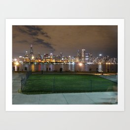 Chicago Skyline - Light (Sept. 27) Art Print