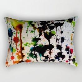 Dripping Color Rectangular Pillow