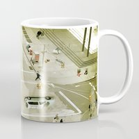 escher Mugs featuring Escher Intersection by Vin Zzep