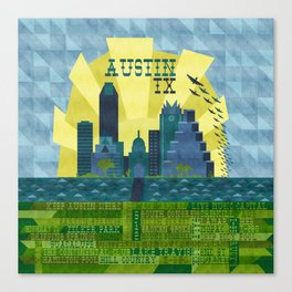 I love Austin, TX Canvas Print
