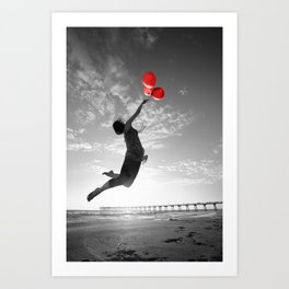 Balloons of Hope Art Print