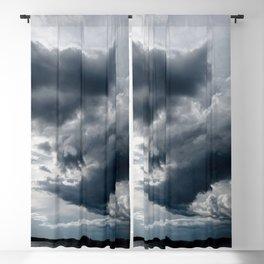 Dramatic Sky - Rain Clouds Dark Gray Blue Monochrome #decor #society6 #buyart Blackout Curtain