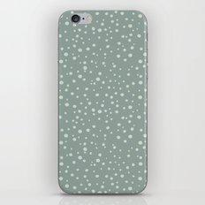 PolkaDots-Mint on Juniper iPhone & iPod Skin