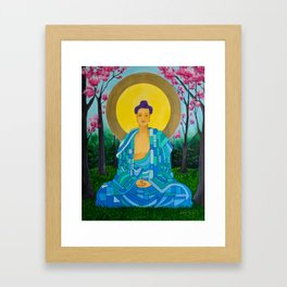 Meditation in bloom Framed Art Print