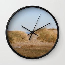 At the beach 9 Wall Clock