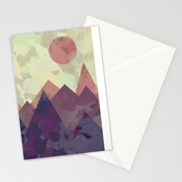 Modern Mountain Painting Series One | Landscape Painting Boho Home Decor Stationery Cards