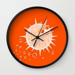 Apathetic Blowfish Wall Clock